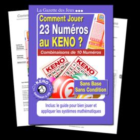 super sélection de 23 numéros au Keno