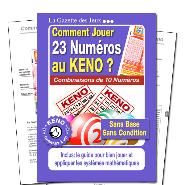 system keno 23 numéros