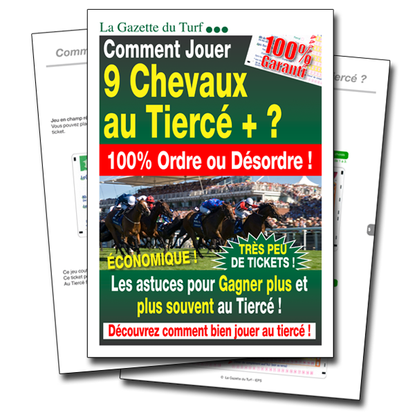 9 chevaux au Tiercé