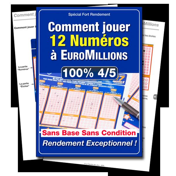 Jouer 12 numéros à EuroMillions