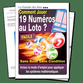 jeu pour 19 numéros au loto